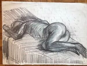 Modernist Nude  - Pastel 20thC - Research Required - Follower Of Henry Moore