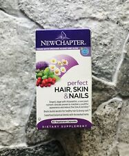 New Chapter Perfect Hair, Skin & Nails Biotin Organic Algae 60 Caps Exp 11/20
