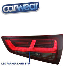 DEPO- LED SMOKE RED 3D BAR OEM STYLE TAIL LIGHTS FOR AUDI A1 8X HATCH 2010-2014