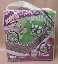 As Seen on TV Zippy Sack Dino Fitted Blanket Multi Twin Size Easy to Make New