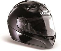 HJC TR1 TR-1 Plain Gloss Black Full Face Motorcycle Helmet NEW RRP £109.99