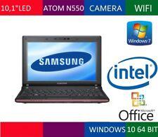 "NETBOOK SAMSUNG N150 PLUS 10,1"" LED N550 RAM 2GB HD 250GB WEBCAM INTEGRATA WIN7"