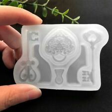 Silicone Mold Keys Lock Floral DIY Mirror Epoxy Resin Molds Jewelry Making Tools