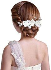 Pack of 5 White Flower Bridal Wedding Hair Pin Hair Stick