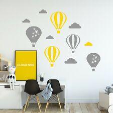 Hot Air Balloon Sky Clouds Wall Sticker Decal Nursery Art Kid Baby Bedroom Decor