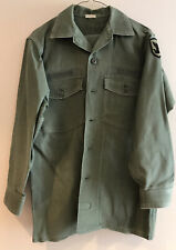Vietnam US ARMY OG-107 OD Shirt Jacket Named ROSENBOOM