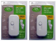 (2) ea Lutron Electronics TTCL-100H-WH White CFL / LED Lamp Dimmer Switch