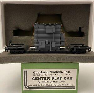 Brass H0 Overland Models OMI-1347 CENTER FLAT CAR W/TRANSFORMER LOAD