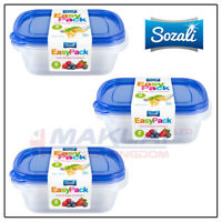 750ml Food Storage Containers Tub with Lids Tupperware Plastic Strong Rectangle