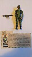 Vintage 1983 GI Joe ARAH Stalker 100% Complete w/ File Card Action Figure