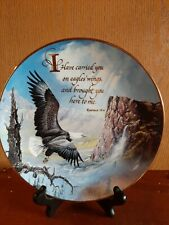 """Royal Doulton Carried on Eagles Wings by Ted Blydlock Limtited Edition 8"""" Plate"""