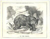 Russian Bear on the Prowl in Bulgaria, Armenia & Afghanistan Punch Cartoon `19P