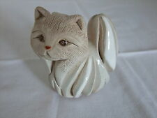 Vintage Hand crafted Rinconada White Persion Cat  - Signed