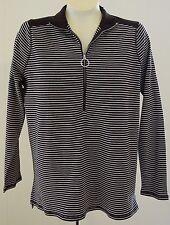 Ralph Lauren LRL Active Shirt 1X Black White Stripe NWT Long Sleeves Zipper