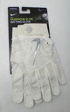 Nike Huarache Elite Batting Gloves Men's Large White/Chrome