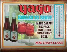 VINTAGE 1970'S YAGO SANT' GRIA Sangria wine Advertising Window Thermometer