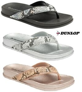 LADIES WOMENS NEW DUNLOP TOE POST SANDALS CUSHIONED SLIP ON FLIP FLOPS SIZE 3 -8