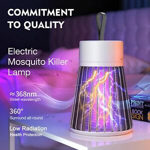 USB Rechargeable Electric Mosquito Killer Light Fly Bug Insects Trap Zapper Lamp