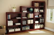 South Shore Freeport 4 Shelf Open Bookcase Storage Furniture, Royal Cherry Wood