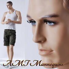 Male mannequins relistic sophisticated looking muscular, lifesize manequin-Jack
