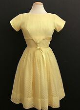 VINTAGE 1950'S YELLOW PIN UP ROCKABILLY DRESS
