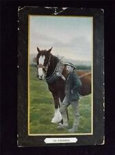 OLD POSTCARD OF THE PLOUGHMAN USED 1911