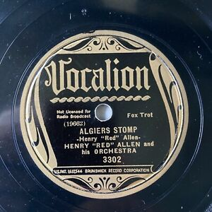 HENRY 'RED' ALLEN & HIS ORCH - 'ALGIERS STOMP' VOCALION 78!