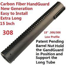 "Extra Long 15"" Low Profile  Carbon Fiber Free Float Handguard Picatinny .308"
