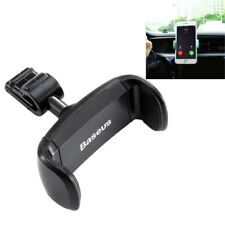 Car Air Vent Mount Clamp 360 Degrees Rotation ABS + Silicone Phones Holder Stand