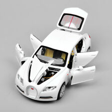 Model Toy 1/32 Car Collection Gift White Bugatti Veyron 16C Galibier light&sound