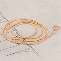 Women's Classic 14K Yellow Gold Filled Snake Chain Necklace 45CM Free Shipping