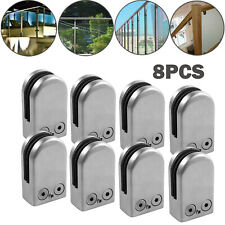 8Pcs 6-8mm Glass Clamp Bracket Stainless Steel Mounting Clip For Balustrade
