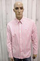 TOMMY HILFIGER Camicia Uomo Taglia L Cotone Shirt Chemise Casual Manica Lunga