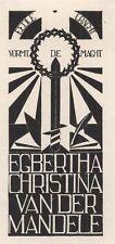 Ex Libris Jeanne Bieruma Oosting : Opus 86b, Egbertha Christina van der Mandele