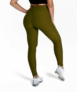 Ruched Scrunch Butt Lifting Texture Leggings High Waisted Workout Yoga Pants
