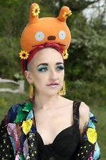 Plush Orange Monster Festival Pom Pom Crown Headband Headdress Gobbolino