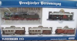 Fleischmann 4899 Set Prussian Passenger Train 4x Car + Steam P 8 Dss, Kpev Ep1