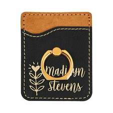 Custom Cell Phone Wallet / Credit Card Holder, Many Colors, Leatherette  #41011