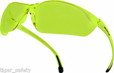 Occhiali e monolente da ciclismo con lenti in giallo per uomo