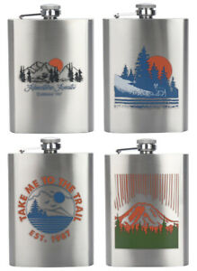 Ozark Trail 7.5oz Stainless Steel Flask w/Attached Cap & Easy-pour Funnel - 1280
