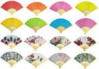 Handfächer Taschenfächer Fächer Deko Papier verschieden Farben - NEU & OVP