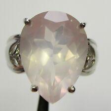 1195 - Großer Ring mit Rosenquarz und Topas aus 925 Silber - 2175