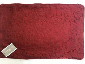 "BALMORAL BORDEAUX Design Studio Rectangular 16"" x 24"" Deep Wine Cushion Cover"