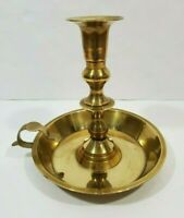 "1 piece Vintage INDIA Brass Centerpiece Chamberstick Candle Holder Art Deco 7"""