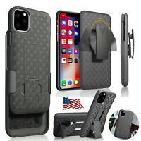 For iphone 12 Pro Max Mini 11 SHELL HOLSTER BELT CLIP COMBO CASE COVER W/KICKSTA