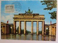 Berlin Brandenburg Gate Maximum Card 1966 (13820)