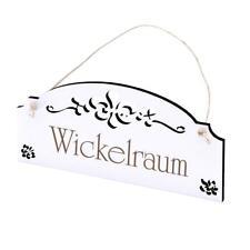 Türschild Dekoschild WICKELRAUM Shabbyschild Schild Holzschild Textschild Gravur