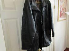 Crown Sport , Vintage , Leather , Heavy Men's Winter Coat  , Size 44 (XL)