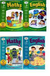 MATHS & ENGLISH Book Leap Ahead work book HOME SCHOOL Age 7-8 8-9 KS2