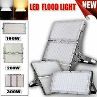 300W 200W 100W LED Flood Light Cool White Outdoor Spotlight Garden Yard Lamp US